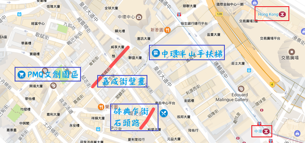 PQM石頭路壁畫手扶梯googlemap.png